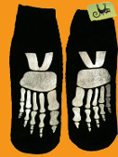 Novelty Punk GLOW-in-the-DARK ZOMBIE SKELETON FEET BONES SOCKS Gothic Punk Foot Accessories Cyberpunk Cosplay Costume Accessory