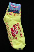 NEW with tags Punk Pimp Costume Novelty WHO'S YOUR SUGAR DADDY ? CREW SOCKS UNISEX (Women's Adults Teens Size 9-11) Halloween, Valentine's Day, Anniversary, Holiday Stockings Clothing Accessory