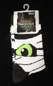 Novelty Cool Unique MUMMY MONSTER SOCKS Gothic Punk Adult Cosplay Costume Accessory