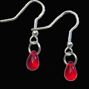 Love Bite Me Fang Banger Gothic BLOOD DROPS VAMPIRE EARRINGS True Bloody Funky Halloween Costume Jewelry