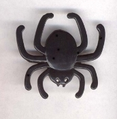 SPIDER - BLACK WIDOW PIN - Halloween Witch - Gothic - Plastic Wicca Charm Jewelry
