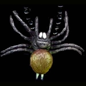 GIANT SPIDER TARANTULA PENDANT TALISMAN NECKLACE with Beads - Huge Halloween Gothic Costume Jewelry -BROWN - Choose your bead and cord color!