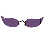 Steampunk Gothic VAMPIRESS SUN GLASSES Cosplay Witch Dark Shadows Costume Accessory-Punk Rave Lady Gaga-inspired Black-Framed Passionate Purple Lense Vampire Mask Novelty EyeGlasses-DEMON TEMPTRESS Halloween Unisex Eyewear-Barnabas Collins approves.
