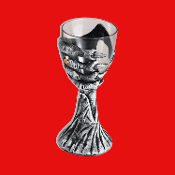 Medieval Steampunk Cosplay Costume Party Zombie SKELETON HAND GOTHIC GOBLET Chalice Alchemy Potion Cup Drink Wine Glass. CREEPY CLUTCH Bony Stemmed Wiccan Halloween Vampire Prop Bar Decor Renaissance Witch Wizard Accessory Decoration Holds 10 oz