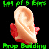 Walking Dead Bloody-DARYL's Souvenir ZOMBIE SEVERED EARS-Body Part-Halloween Chop Shop Gothic Prop Creepy Gag Gift Joke Prank Decoration Mad Scientist Doctor Laboratory - 5-Life Size EARS Cut-off parts from your latest Zombie hunt!