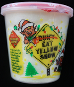 (DON'T) EAT YELLOW SNOW COTTON CANDY Christmas Stocking Stuffer Novelty Holiday Party Favor Treat Gag Gift. What is Yellow Snow? Fun Sweets brand is a tasty Lemon-Ice Cotton Candy with no 'special ingredients', If you know what we mean... So dig in!