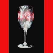 NEW-Eat Drink Be Merry-WINE GLASS GOBLET-Christmas Party Holiday Decoration-10oz- EAT DRINK & BE MERRY - Wine Glass Drink Goblet Christmas Party Tableware Holiday Stemware with Decoration-Kitchen, Dining Room, Restaurant, Bar Décor *Made in the USA!