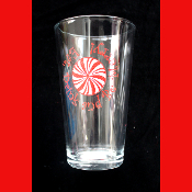 Eat Drink & Be Merry-BEER PINT DRINK GLASS-Christmas Party, New Year, Mardi Gras, Poker Game, Fantasy Football, Holiday Decoration-16 oz-Water Glass Beverage Tableware Barware with Decoration-Kitchen, Dining Room, Restaurant, Bar Décor - 6-inch tall