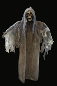 Walking Dead Gothic Life-Size-BORIS STANDING GRIM REAPER ZOMBIE GHOUL CORPSE-Halloween Haunt Horror Prop-Creepy Stand-up Ghost Cemetery Graveyard Dungeon Décor-Spooky Dead Body Prop Haunted House Decoration for post-apocalyptic party apocalypse event