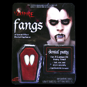 VAMPIRE FANGS-Custom Fit-MONSTER TEETH DENTURES-Dracula,True Blood,Vampire Diaries,Twilight-inspired Halloween costume party accessory-Living Undead prosthetic makeup.Special Effects Horror Teeth Cosplay Character Party Reenactment Theatrical Prop.