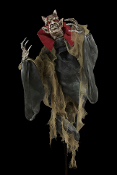 4-ft Gothic Poseable Spring-HANGING STANDING DEVIL DEMON MONSTER-Halloween Prop