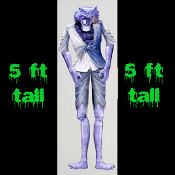 5-ft Life Size Jointed Halloween Prop-WEREWOLF-Cutout Costume Party Wall Door Window Decor Halloween Decoration