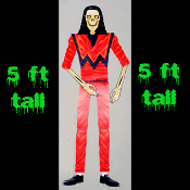 5' Life-Size Jointed Prop-THRILLER ZOMBIE SKELETON-Costume Party Wall Decoration