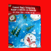 52x70-Vinyl-Flannel-SNOWMAN TABLE CLOTH COVER-Holiday Party Christmas Decoration