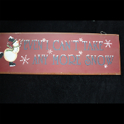 Rustic Country Winter--I CAN'T TAKE ANY MORE SNOW!--Door Decor Wall Hanging Holiday Christmas Decoration-SNOWMAN RUSTY TIN SIGN
