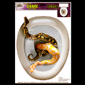 Gothic Halloween Prop-SNAKE TOILET TOPPER-Tattoo Cling Decal Bathroom Decoration