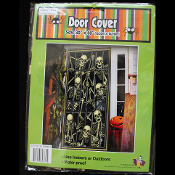 Gothic Prop-SKELETON PRISONERS DOOR COVER MURAL-Halloween Decoration Horror Costume Party Window Wall Decor-30x60