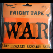 Orange Black-BEWARE-Barricade Fright Caution Tape-Zombie Halloween Prop Costume Party Decoration Haunted House Decor-30 ft