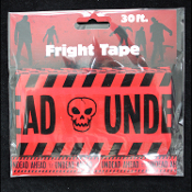 Zombie Horror Prop-UNDEAD AHEAD-Fright Caution Tape-Halloween Prop Costume Party Decoration Haunted House Decor-30ft