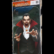 Gothic Halloween Horror Prop-VAMPIRE DRACULA-Floor Wall Grabber Cling Decoration