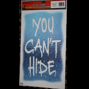 Gothic Warning Halloween Horror Prop-YOU CAN'T HIDE-Floor Wall Grabber-Window Decoration