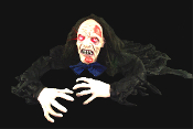 Gothic Horror Prop-GROUNDBREAKER ZOMBIE GHOUL-Halloween Haunt Light Sounds Decor