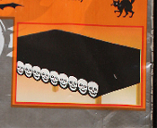 Gothic Pirate-BLACK SKULLS BORDER TABLE CLOTH COVER-Day of Dead Party Decoration