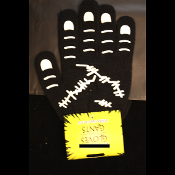 Gothic Novelty Stretch Black Winter-ZOMBIE MONSTER STITCHES GLOVES-Unisex Cosplay Nurse Mad Doctor Halloween Costume Accessory