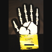 Punk Gothic Anatomy SKELETON HAND BONES GLOVES-Steampunk Cosplay Halloween Costume Novelty Accessory. Lightweight magic stretch winter knit gloves. Great gift for Nurse, Doctor, Medical Student, Biker, etc!