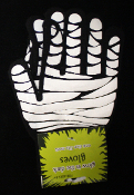 GLOW in the Dark Gothic Winter MUMMY BANDAGED HAND GLOVES Novelty Stretch Victim Costume Medical Doctor Steampunk Punk Accessory Steampunk Cosplay Nurse