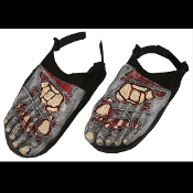 Halloween Bloody Horror--ZOMBIE FEET SHOE COVERS--Walking Dead Costume Accessory