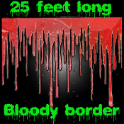 Halloween Horror - BLOODY BORDER - Scene Setter, Create a Scene, Wall Trim Party Decoration Prop -25ft