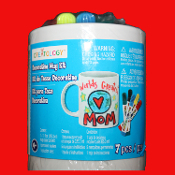 Keepsake Gift-PERSONALIZED CERAMIC CUP MUG KIT-Kids Decorate Color Create Crafts