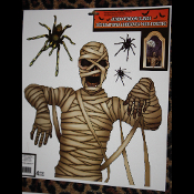Gothic Horror Prop-MUMMY SPIDERS-Window Cling-Halloween Costume Party Decoration