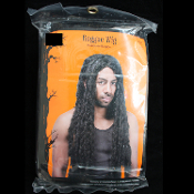 30'' Long Unisex Dreadlocks Jamaican BLACK BRAIDS RASTA WIG Pimp Halloween Costume Accessory Deluxe 30-inch (75cm) Rasta-Mon Rastafarian dreadlock braided wig for your Bob Marley, Jamaican, Pimp, Whoopi Goldberg, or Native-American costume!