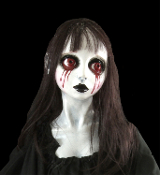 NEW Gothic 3-FT (90cm) Hanging Demon Zombie Ghoul Ghost Girl Spirit Corpse Undead Body Zombie Walk Halloween Haunt Horror Prop - BLOODY MARY Creepy Petite Head Zombie Ghoul Graveyard Cemetery Spooky Dead Body Prop Gothic Haunted House Decoration.