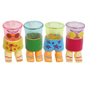 3 oz size Tropical Luau - FUNNY NOVELTY SHOT GLASSES Voodoo Tiki Bar Pool Beach Party Decoration 4-piece SET DECORATION Bar Kitchen Dining Room Decor Accessory. One each of 4-pictured styles. Dimensional Detailed Punk Pirate Pub Halloween Decor Prop