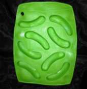 Picnic PICKLE CUCUMBER ZUCCHINI MOLD Novelty Bar Jello Shot Ice Cube Tray. Back Yard, Barbecue, BBQ, Cookout, Summer Beach Party, Memorial Day, Father's Day, Food theme. Garden Vegetable MOULD SHAPE FORM Restaurant Bar Gelatin Shots Craft Supplies