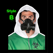 Steampunk Adult Faux GAS MASK Gothic Halloween Costume Accessory. Cosplay Cyberpunk Evil Mad Scientist retro reenactment attire. Military-style Fake Respirator, just what the Doctor ordered. Realistic punk world's end Zombie apocalypse mask. Soft PVC