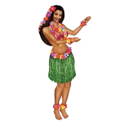 Cheap Discount Wholesale Fun LUAU Tropical Island Theme Summer Beach Pool Party Tahitian TIKI BAR PROPS Backyard Pig Roast Cosplay Hawaiian Hula Costume Decorations