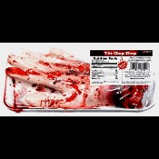 Bloody SEVERED HAND DELI TRAY- Gory Zombie Food Butcher Chop Shop Meat Market Morgue Autopsy Body Parts Thing Hannibal Lector Cannibal Dexter CSI Serial Killer Walking Dead Horror Halloween Decorations Props. Creepy Gag Gift Party Decoration.