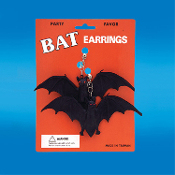 Halloween Costume Jewelry Huge Giant Gothic Black VAMPIRE BAT EARRINGS Twilight Elvira Dracula Vampiress clip-on party favors, store giveaways, gifts. 3-D toy charms, wholesale price! Cheap discount Halloween props, decorations, cosplay accessories.