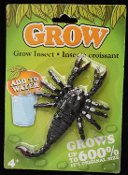 Gag Gift MAGIC GROWING SCORPION Poison Bug Insect Halloween Prop Decoration Mad Scientist Laboratory Science Project Party Favor. Put in any jar or bathtub for a gruesome Halloween prop! Starting size is approx. 5-inch long