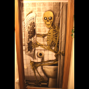 Cheap Wholesale Discount FUNNY BATHROOM DOOR COVERS, Novelty Toilet Decor, Decorative Holiday Seasonal Door Props- Christmas, Valentine, St Patrick, Easter, Day of the Dead, Patriotic, Oktoberfest, Halloween, Thanksgiving RESTROOM DOORWAY DECORATION