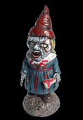 Creepy Walking Dead Zombie Bloody HORROR GNOME-BIETTE GIRL Female Wife Funny Garden Yard Lawn Decor Scary Haunted House Cemetery Graveyard Gory Halloween Prop Decoration. You'd better watch out! Don't nap outdoors cuz she's coming to eat your brains!