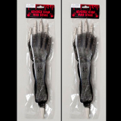 PAIR-Human Anatomy Bones-LIFE SIZE BLOODY HORROR HANDS LAWN STAKES-Zombie Prop Building Supplies-Both same arm. 2-pieces SET Life Size yard posts. Need skeleton parts but don't want to spend an arm and leg? Look no further!