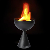 Realistic Standing Table Top Torch Fake Flame Lamp Mini Vulcan Simulated Fire Pot Halloween Party Decoration Prop. DJ Luau Tiki Bar Decor FX. Cast some spooky dungeon light in your scary haunted house with this realistic flaming bowl creepy cauldron!