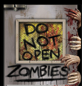 Gothic Walking Dead DO NOT OPEN ZOMBIES ATTACK LABORATORY DOOR COVER MURAL Halloween Haunted House Costume Party Decoration Apocalypse Horror Movie Window Wall Hanging Living Undead Cemetery Graveyard Prop Building Supplies