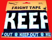30ft RIP Tombstone Zombie Apocalypse--KEEP OUT--BARRICADE FRIGHT CAUTION TAPE R.I.P. Haunted House Decoration Halloween Party Decor Prop Accessory. Black and White plastic barricade ribbons create the scariest Halloween house on the block!