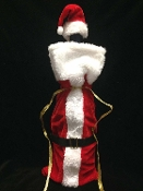 Christmas Secret SANTA SUIT HAT WINE LIQUOR BOTTLE COVER Table Decoration Hostess Gift Bag. Oh, what fun it is to present your party spirits in traditional mini Santa Claus Suit w/ Cap. Spread seasonal holiday cheer with this unique whimsical wrap!